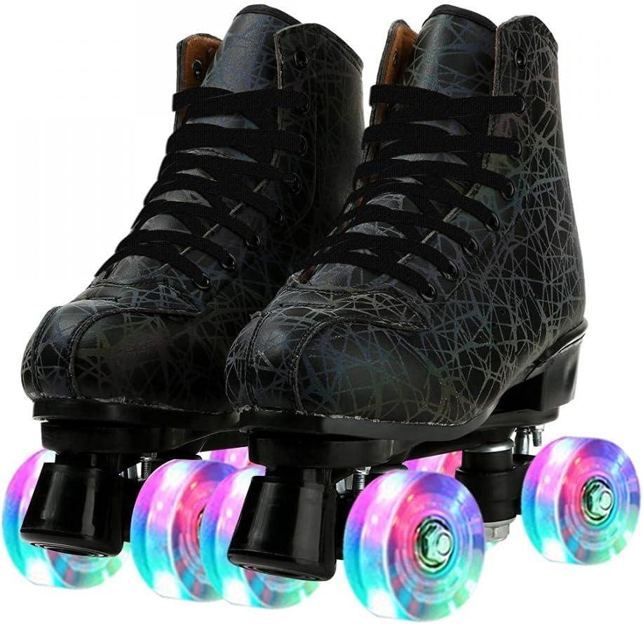 PU Leather Roller Skates Minneapolis Mall Four-W Max 90% OFF Premium Four-Wheel