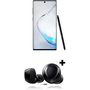 Samsung Galaxy Note 10 Factory Unlocked Phone with 256GB, Aura Black w/Galaxy Buds+ Plus