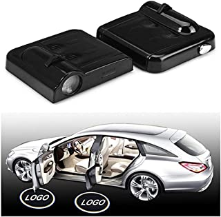 IHEX Auto Wireless Car Door LED Projector Light Battery Powered Courtesy Welcome Logo Shadow Ghost Light - 2pcs (Honda)