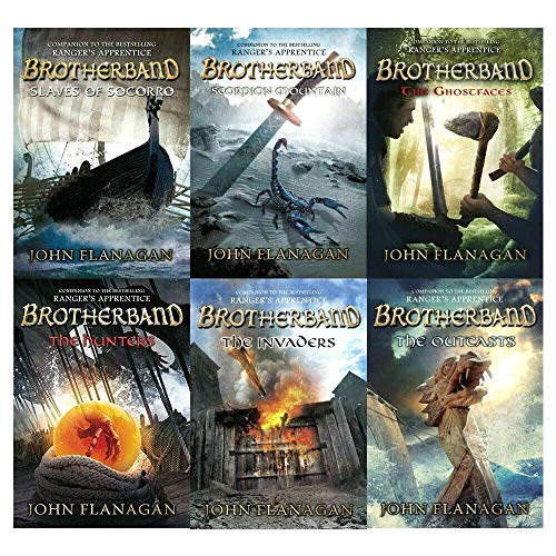 brotherband chronicles john flanagan collection 6 books set (the outcasts, the invaders, the hunters, slaves of socorro, scorpion mountain, the ghostfaces)