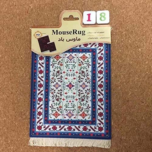 1 stks perzische mini geweven tapijt mat mousepad tapijt patroon cup muismat met fring retro stijl thuiskantoor tafel decor craft, 18