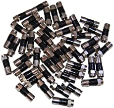 50-Pack RG6 Quad Compression Connectors PPC EX6XL Approved for Most Satellite or Cable Coax