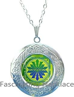 DiamondJewelryNY Sterling Silver Round Abalone Pendant
