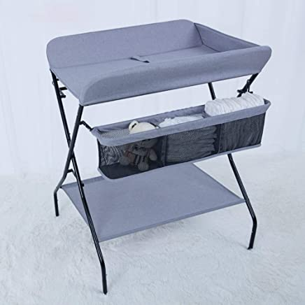 HANSHAN Changing Table Changing Table  Baby Care Table Newborn Multifunctional Folding Massage Table Baby Finishing Workbench Color Inch  color Gray