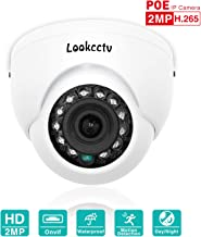 lookcctv IP Camera, 2MP Mini Dome POE Indoor Security Surveillance HD Camera Weatherproof,2.8mm Lens 33ft Night Vision IR Cut Day/Night HD