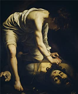 'Caravaggio David Victorious Over Goliath Early 17 Century ' Oil Painting, 8 X 10 Inch / 20 X 25 Cm ,printed On Polyster Canvas ,this Imitations Art DecorativePrints On Canvas Is Perfectly Suitalbe For Laundry Room Decoration And Home Artwork And Gifts