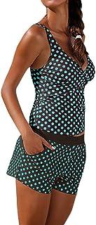 Fannyfuny_Bikinis Mujer Conjunto de Bikinis Trikinis Mujer Bañador Ropa De Baño Estampado de Lunares Vestido de Traje de B...