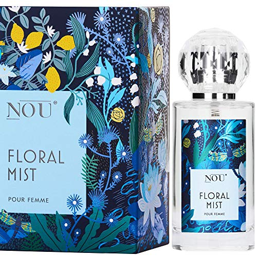 Perfume Freesia - Perfume floral fresco con notas cítricas dulces y vainilla - Perfume natural con aceites esenciales - Perfume natural para mujeres - Perfume NOU Floral Mist - 50 ml EDP
