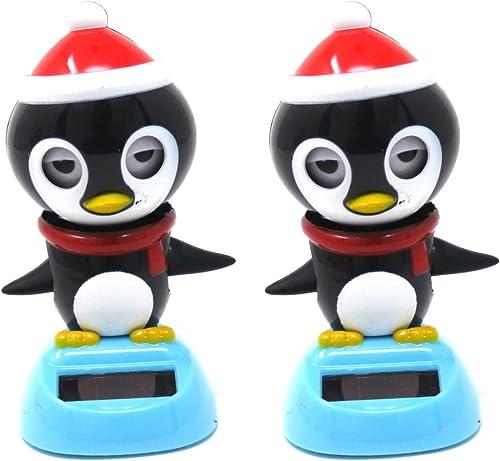Solar Powerot Dancing & Blinking Penguin (Set of 2)