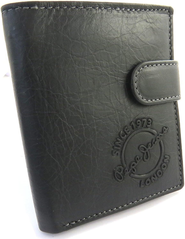 Pepe Jeans [N1420]  European leather wallet 'Pepe Jeans' vintage brown (10.3x8.5x2.5 cm (0.00''x3.35''x0.98'')).