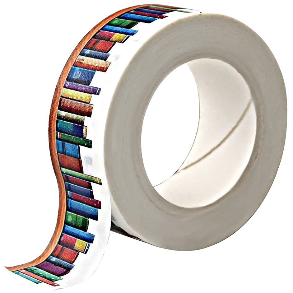 Wode Shop Washi Masking Tape,Books Washi Tape Decorative Craft Tape Collection for DIY and Gift Wrapping with Colorful Designs and Patterns