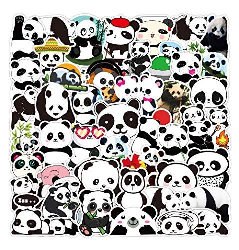 WWLL 50 pegatinas panda de dibujos animados lindo emoji lindo mascota maleta pegatinas portátil teléfono caso