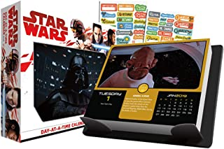Star Wars 2019 Calendar, Box Edition Sticker Set - Deluxe Disney 2019 Star Wars Day-at-a-Time Calendar with Over 100 Calendar Stickers (Star Wars Gifts, Office Supplies)