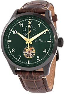 Lucien Piccard GMT Open Heart Automatic Green Dial Men's Watch 1295A7