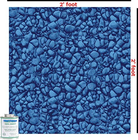 Blue River Rock 2 Ft X 2 Ft Above Inground Swimming Pool Vinyl Liner Repair Kit with Glue product image