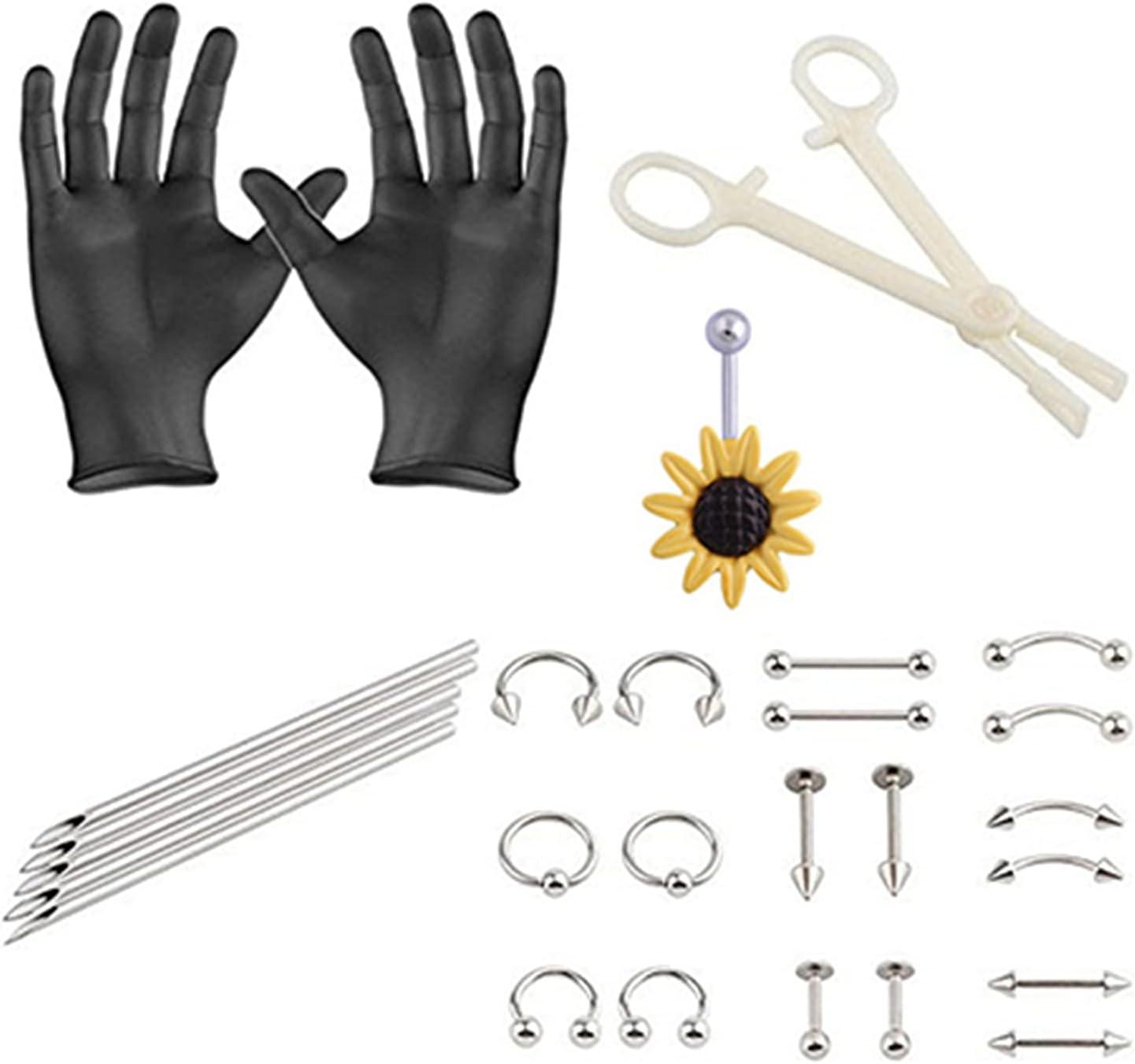 Ranking TOP2 HEVIRGO famous Professional Body Piercing Jewelry Kit Needle