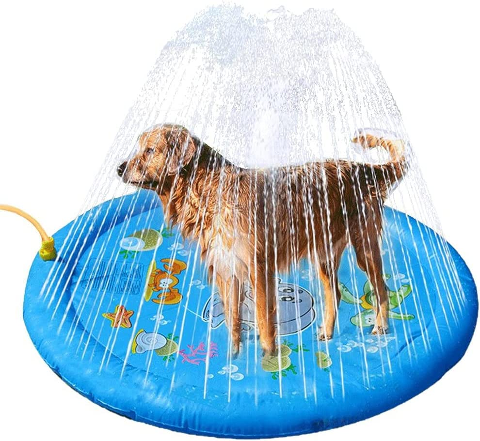 CIJK 96CM Pet Price reduction Sprinkler Latest item Pad Play Mat Pool PVC Thickened Cooling