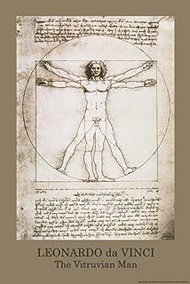 Leonardo Da Vinci Vitruvian Man Art Poster Print - 24