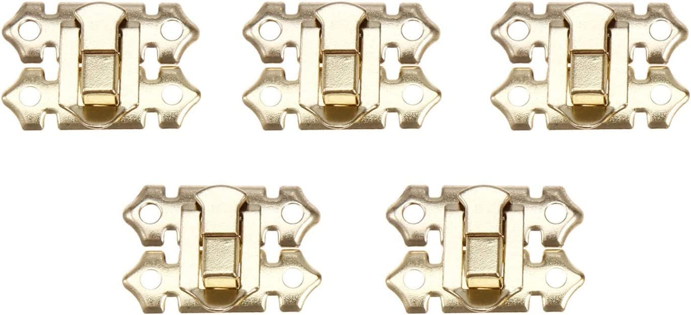 Durable 10Pc Gold Box Hasp Lock Latches Jewelry Bargain sale security Catch Suitca
