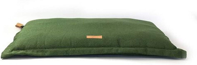 Ralph & Co Richmond Stonewashed Fabric Cushion Dog Bed (Medium) (Khaki Green)