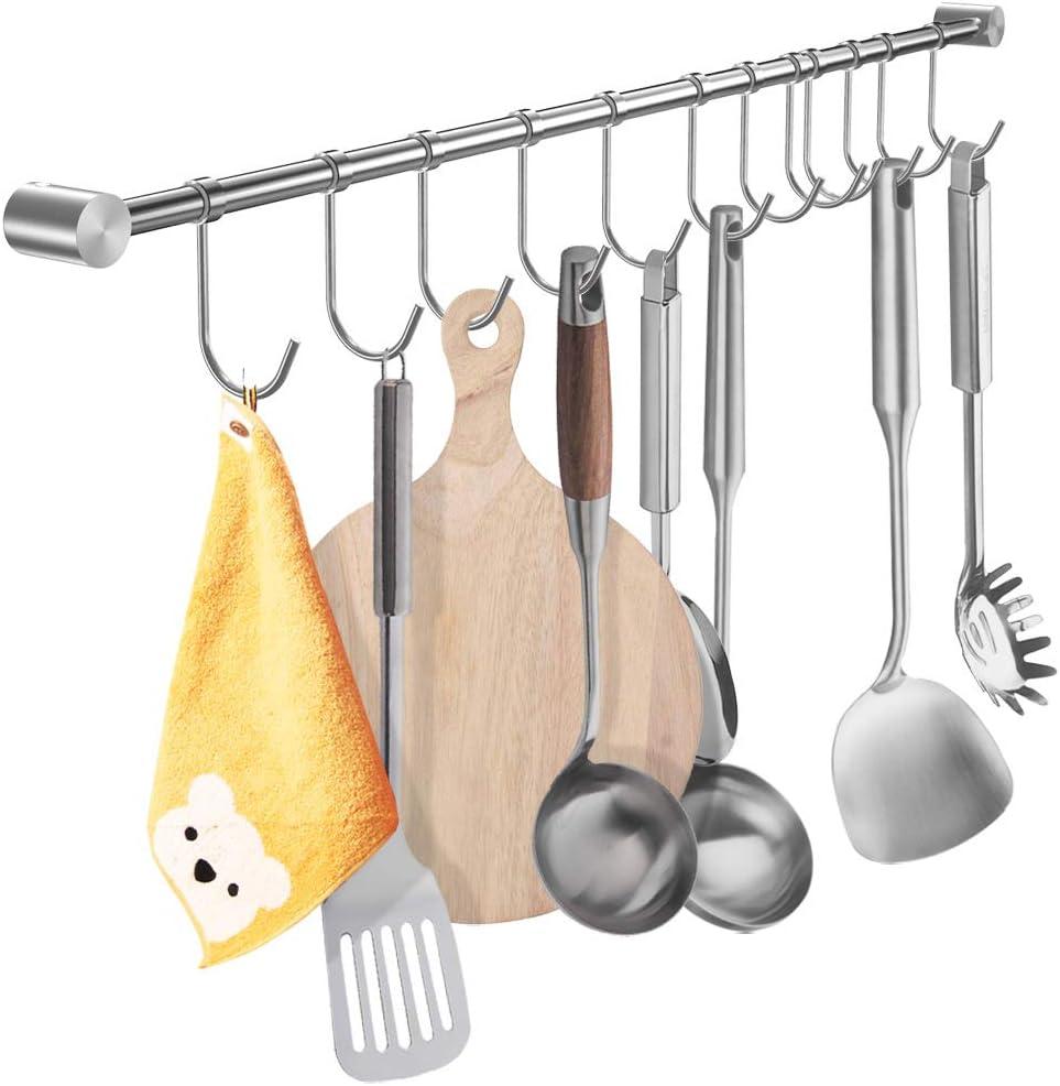 Reservation YIHAIXINGWEI Utensil Racks Las Vegas Mall 39Inch Kitchen Stainless 304 S Hanger