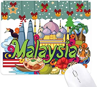 Twinstower Malaysia Graffiti Mouse Pad Game Office Mat Christmas Rubber Pad