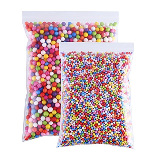 CCINEE 16 Grams 3-5mm Colorful Foam Beads 6-8mm Assorted Size Styrofoam Beads Balls for Kids DIY Slime Making and Party Decoration 30000pcs