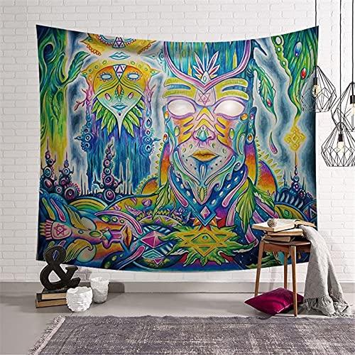 PPOU Tapiz Grande decoración de la habitación Tapiz Asistente decoración Colgante de Pared Mandala Boho Hippie decoración del hogar Tapiz A5 130x150cm