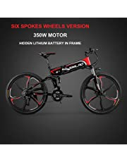 XXCY M8 電動マウンテンバイク 26インチ折り畳み自転車 シマノ21速 350W 48v 12.8ah 内蔵式バッテリー 防犯登録可能 (レッド)