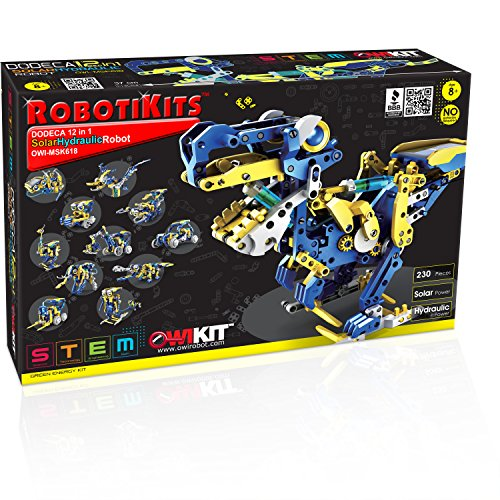 OWI - Dodeca 12-In-1 Solar Hydraulic Robot Kit | 12 Configuration Possible | Powered by the Sun |...