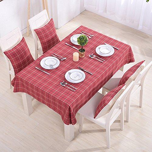 WERLM tafelkleed van katoen en linnen, eenvoudig te controleren, wastafel, outdoor stof