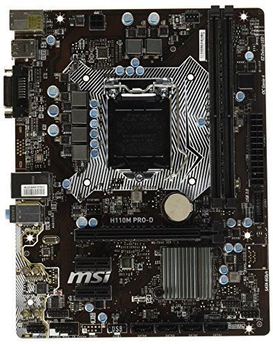 MSI Intel Skylake H110 LGA 1151 DDR4 USB 3.1 Micro ATX Motherboard (H110M Pro-VD)