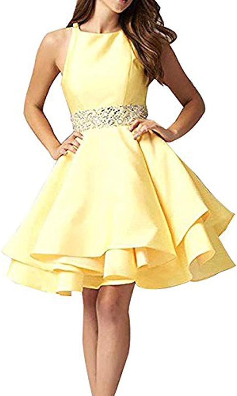 MariRobe Women's Beaded Prom Gowns Short Homecoming Dresses Cocktail Dresses