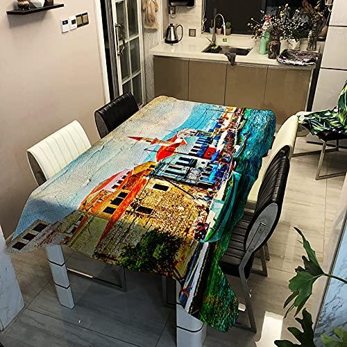 sans_marque Mantel de algodón lavable, diseño de borlas, rectangular, ideal para cocina, comedor, mesa, decoración de buffet, 40 x 40 cm