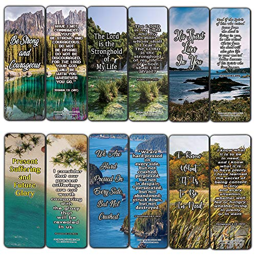 Price comparison product image Defeating The Giants in Your Life Bible Bookmarks (12-Pack) - Collection of Bible Verses About Overcoming Your Struggles
