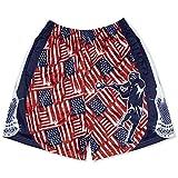 Premium Lacrosse Athletic Shorts | Patriotic USA Lax | Adult Large