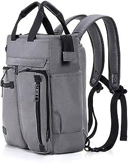 PANFU-AU Traveling Backpack 16 Inch Laptop Bag Satchel Bag Briefcase for School and Work Men's Shoulder Bag Multifunctional Handbag Laptop Backpack Shoulder Messenger Bag (Color : Gray)