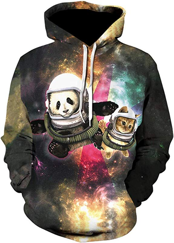 AcisuHu Boys Animal Printed 3D Hoodie For Men Sweatshirt Cartoon Clothes With Pockets Pullover Hoodie