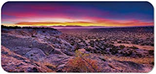 Nature Decor Personalized Mouse Pad,Surreal Sunrise Sky Horizon Over Mountain Valley National Monument Dusk Print for Work Game,15.75''Wx23.62''Lx0.08''H