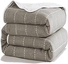 Uozzi Bedding 6 Layers of 100% Hypoallergenic Muslin Cotton Premium Toddler Blanket Spring Summer Lightweight Quilt/Throw ...