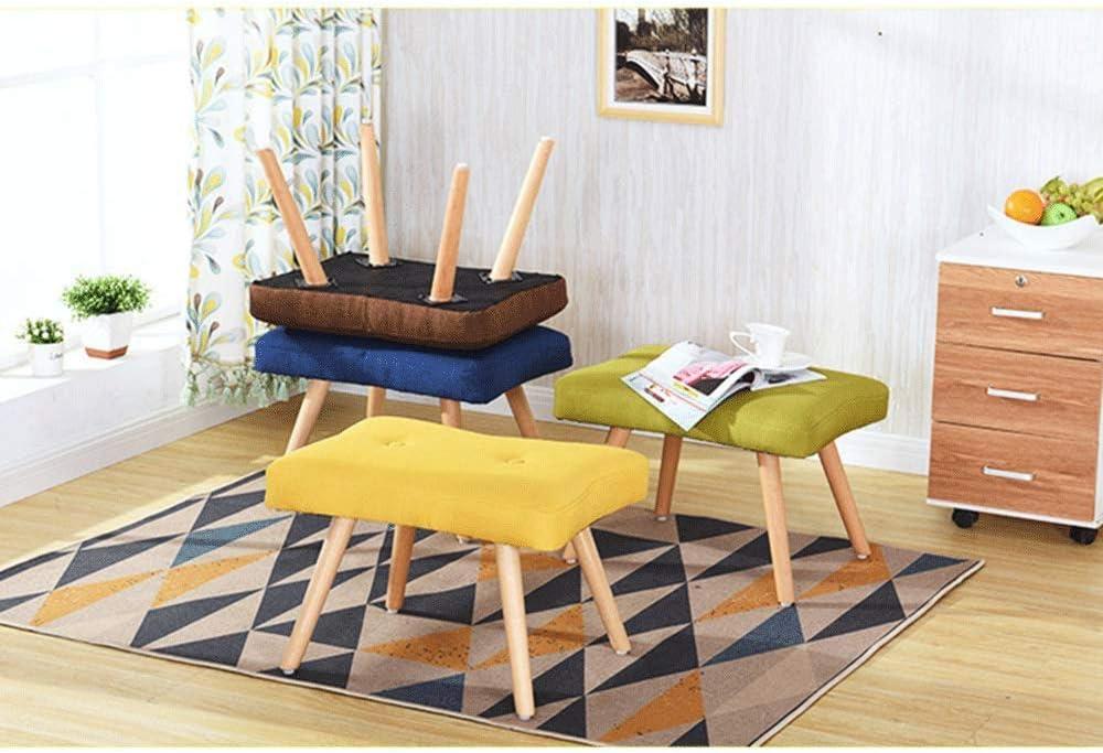 SMEJS Tabouret en Bois Massif Tabouret Bas Tissu Petit Banc Lavable Petite Chaise Tabouret Maison Salon Adulte Canapé Tabouret (Color : B) B
