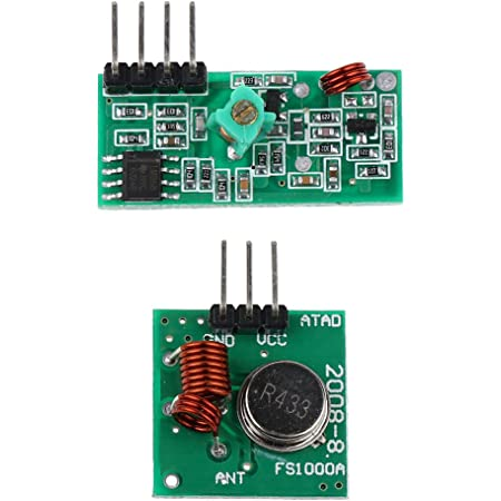 Generic E_14012408 Imported 433Mhz Wireless Transmitter and Receiver Module Kit for Arduino Diy, 2 Pieces