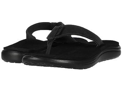 Teva Voya Flip Leather (Black) Women