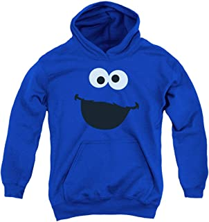 Sesame Street Character Face Youth Pull-Over Hoodie Sweatshirt & Stickers