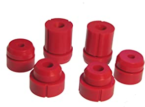 Prothane 6-106 Red Body and Cab Mount Bushing Kit - 12 Piece
