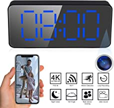 Upgraded Version JIAMEI Hidden Spy Camera Clock Wireless,HD 1080P Nanny WiFi Hidden Cam for Home Security Monitor Video Recorder 140 Angle Night Vision Motion Detection