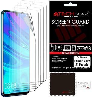 TECHGEAR [5-pack] skärmskydd för Huawei P Smart 2019, klar LCD-skärmskydd skydd skydd skydd kompatibel med 2019 Huawei P S...