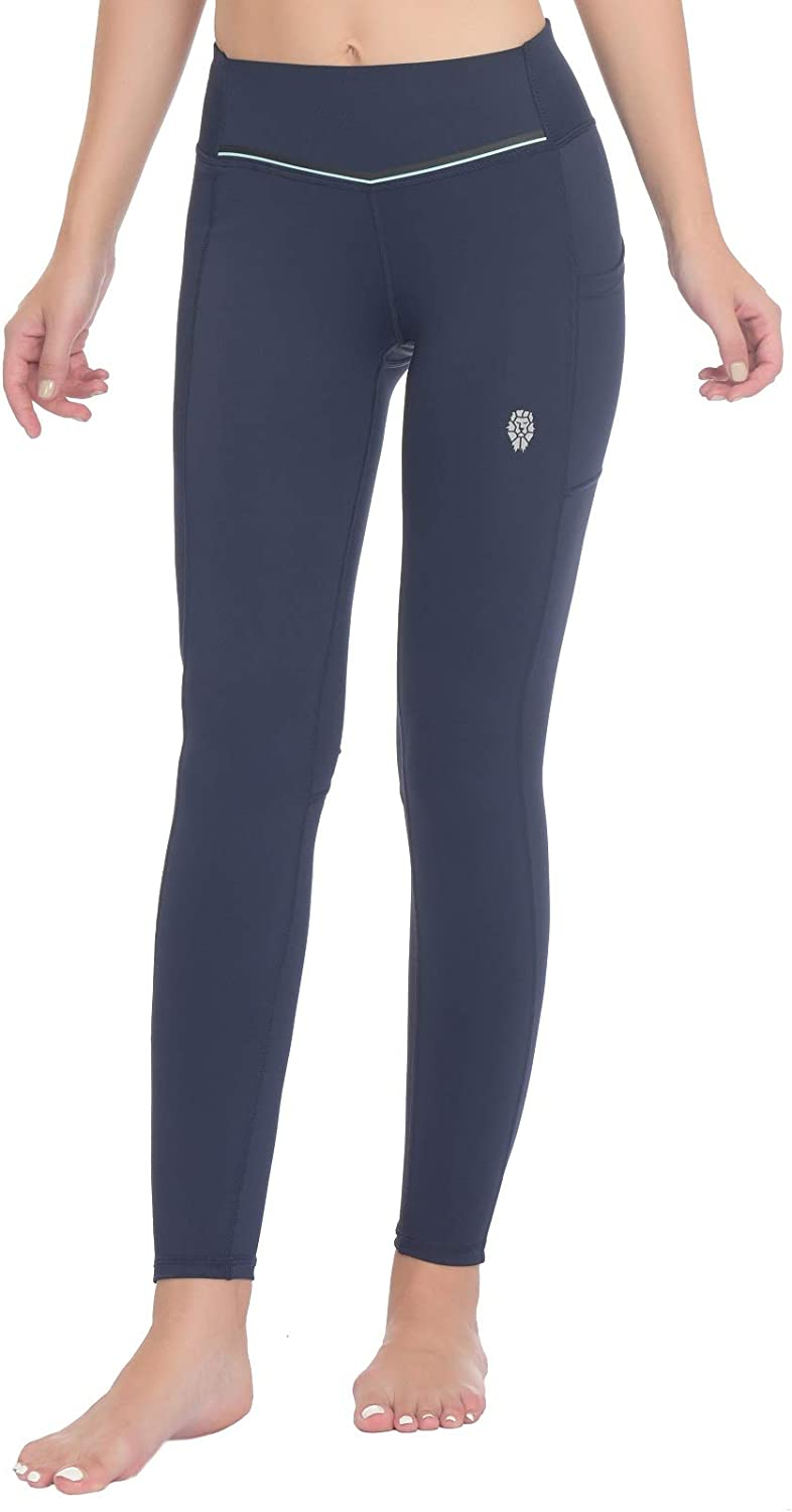 PIQIDIG Leggings Max 81% OFF for Women Yoga Choice Pants Pockets Tummy with - Contr