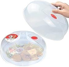 Cubierta de plato para microondas grande fácil de agarrar para microondas, placa de salpicaduras gruesa y duradera, libre de Bpa, paquete de 2
