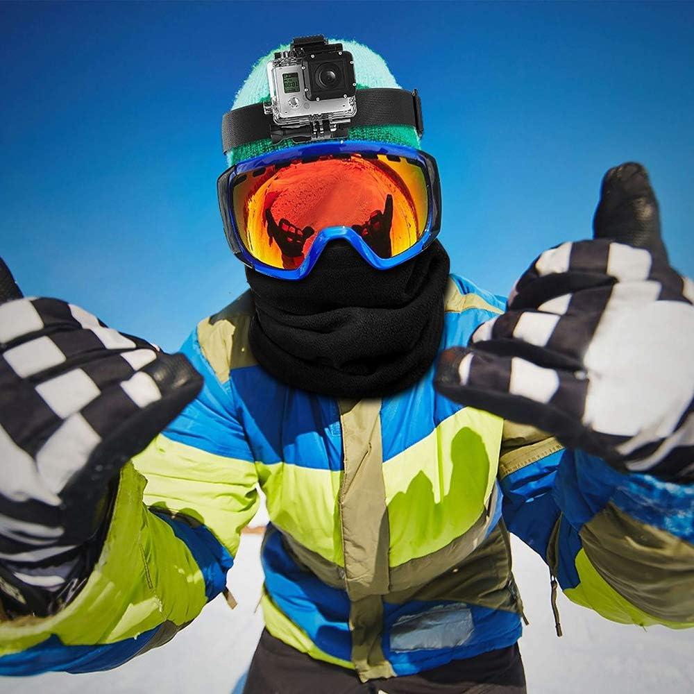 MMTX Scaldacollo Invernale,Scaldacollo in Pile Funzioni Multiple Beanie Hat,Maschera,Sciarpa Scaldacollo per Ciclismo Campeggio Escursionismo,Scaldacollo Antivento Bandana Blu Navy